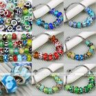 10pc Mixed Imitation 925 Murano Lampwork Glass European Bead Fit Charm Bracelet
