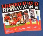 MANCHESTER UNITED HOME PROGRAMMES 2001-2002