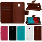 FLIP STAND WALLET LEATHER CASE COVER FOR VODAFONE SMART PRIME 6 CREDIT CARD SLOT