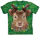 The Mountain Brand Reindeer Lights Rudolf Ugly Christmas Sweater T-Shirt Green