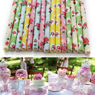 25 Flower Floral Paper Vintage Party Drinking Straws Birthday Wedding Decoration