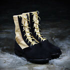ByTheR Unique Casual Urban Chic Street Jungle Millitary Leather Combat Boots