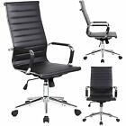 1Home Black Leather High Mid Back Office Gaming Executive Computer Desk Chair