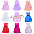 2015 Flower Girl Princess Pageant Wedding Bridesmaid Party Xmas Vintage Dress F8