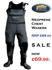 Neoprene Bootfoot Chest Waders Felt Soles - for Trout & Salmon Fishing RRP £90!!