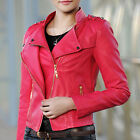 NEW! Fashion Women's Clothing PU Brief paragraph zipper leather jacket coats