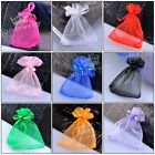10/50x Organza Favour Sheer Christmas Jewelry Pouch Box Gift Bag Gauze Wholesale
