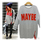 Women Loose Cotton blend Tops Long Sleeve T-Shirt Casual Blouse plus size