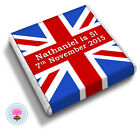 Personalised UNION JACK Birthday Celebration Party Favour Chocolates