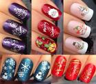 CHRISTMAS NAIL ART STICKERS WATER DECALS TRANSFERS SNOWFLAKES SNOWMEN SANTA BELL