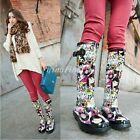 Fashion Doll Cartoon Rain Boots Womens Pull On Buckles Anti Slid Sole Girl Shoes