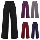 Womens New 1940s Style Retro Vintage Swing Trousers Wide Leg High Waist