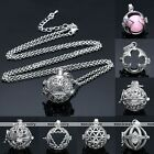BOLA Open Cage Sounds Chime Ball Bead Dangle Pendant Chain Necklace Jewelry Gift