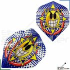 1/3/5/10/20 Sets Metronic Poly Angry Smiley Face Dart Flights Standard Strong