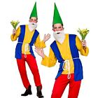 Adults Mens Funny Garden Gnome Dwarf Fancy Dress Costume Panto Stag Halloween