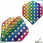 Metronic Poly Rainbow Dots Spots Dart Flights Standard Strong 1,3,5,10,20 Sets