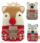 Christmas Hot Water Bottle with Cover, Winter Festive Gift Idea Thermotherapy 59