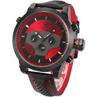 Requiem Shark Fashion Mens Quartz Leather 6 Hands Date Day Wrist Sport New Watch