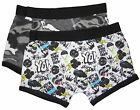 Boys Two Pack Boxer Shorts Trunks Two Funky Patterns 6-7 7-8 9-10 11-12 Years