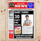 Personalised Spoof Newspaper Happy Birthday Party PHOTO Poster Banner N34
