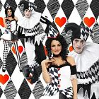 ADULT HARLEQUIN HALLOWEEN CLOWN MEDIEVAL JESTER COUPLES FANCY DRESS COSTUME LOT