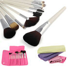 New Fashion SCC 12pcs Cosmetic Kit Makeup Brush Tool Set With Bag Case