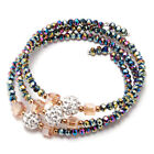 1x Fashion Women Three Circles Crystal Beads Bangle Bracelet Jewelry Craft New L