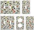 RETRO STYLE LEAVES LIGHT SWITCH COVER PLATE  U PICK  SIZE AND STYLE
