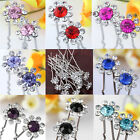 10Pc Crystal Rhinestone Flower Wedding Party Bridal Hairpin Hair Clip Accessory
