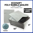 """1-12000 #00 5x10 """"EcoSwift"""" Poly Bubble Mailers Padded Envelope Bags 5"""" x 10"""""""