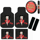 New Betty Boop Car Truck Floor Mats / Steering Wheel Cover / Seat Belt Covers $68.95 USD on eBay