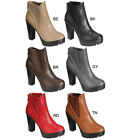 Breckelle's HANNA-11 Women's Platform Chunky Heel Lug Sole Chelsea Ankle Booties