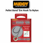 Middy Pellet Band 'Em Barbless Hooks To Nylon All Sizes Coarse Match Fishing