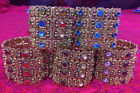 New Vintage Rhinestones Cuff Bracelet Prom Cocktail Accessory Christmas Gift 001