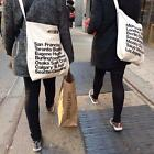 Hot American City Letters Handbag Shopping Bag Messenger Canvas Shoulder Bag S