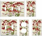 LILIES FLORAL  LIGHT SWITCH COVER PLATE   1 U PICK  SIZE AND STYLE