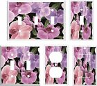 ORCHIDS FLORAL LIGHT SWITCH COVER PLATE 2   U PICK  SIZE AND STYLE