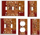 LIVE LAUGH LOVE FLORAL PATCHWORK LIGHT SWITCH COVER PLATE  K10  U PICK  SIZE