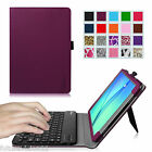 Slim Leather Case Cover with Bluetooth keyboard for Samsung Galaxy Tab A tablet