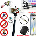 'New Boxed Telescopic Selfie Stick Monopod Wired Bluetooth Remote Mobile Holder