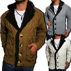 Young & Rich Men's knitted sweater Norwegian Jumper Cardigan Hoodie NEW