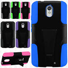 Motorola Droid Turbo 2 Advanced KICK STAND Rubber Case Phone Cover +Screen Guard
