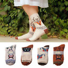 Women Cartoon Cotton Ankle Socks Winter Warm Deer Wool Christmas Santa Xmas Gift