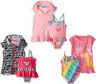 Wippette Baby Girl Swimsuit Set - 1 Piece,Coverup,Flip Flops 12 24 2T NWT