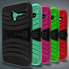Tough Hybrid Armor Kickstand Protective Phone Cover Case for Alcatel Pixi 3 4.5""