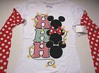New Disney Mickey Mouse Holiday Christmas shirt womens juniors size S M L XL XXL