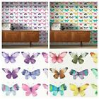 BUTTERFLIES WALLPAPER BEDROOM FEATURE HIGH QUALITY PINK MULTI COLOURS WASHABLE
