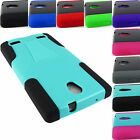 FOR ZTE ZMAX 2 Z995L Z958 RUGGED T-STAND HYBRID ARMOR CASE COVER+STYLUS/PEN