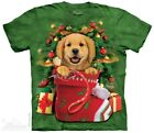 The Mountain Brand Dog Golden Labrador Retriever Stocking Christmas T-Shirt S-5X