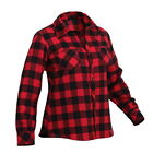 Womens Ladies Red Plaid Checker Pattern Long Sleeve Winter Warm Flannel Shirt